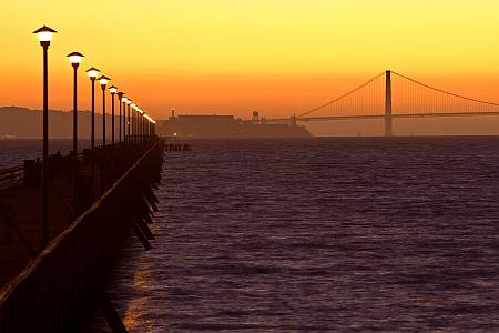 Sunset at Berkeley Pier