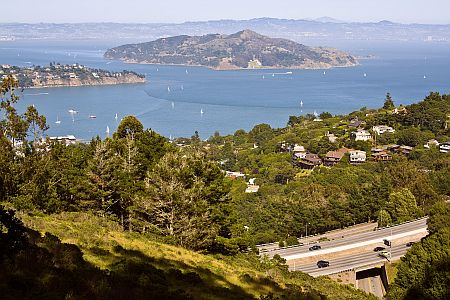 Angel Island as seen from the hike