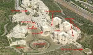 Getty Center Area Photo Map