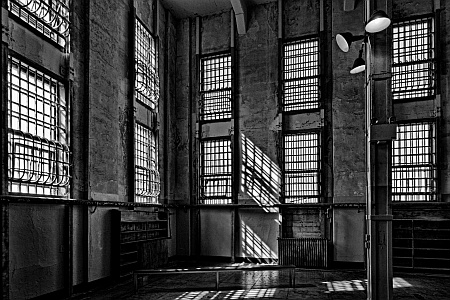 Alcatraz Library Black and White