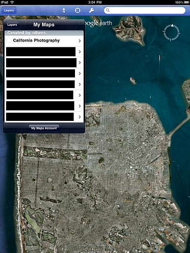 Google Earth iPad personal map overlay