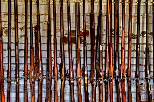 Rifles at Sutter's Fort