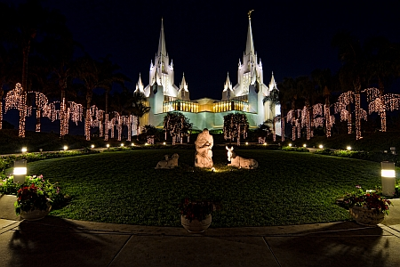 LDS temple christmas